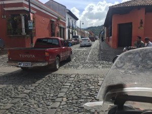 These streets made it a bit tough to drive down at such a slow speed in Antigua